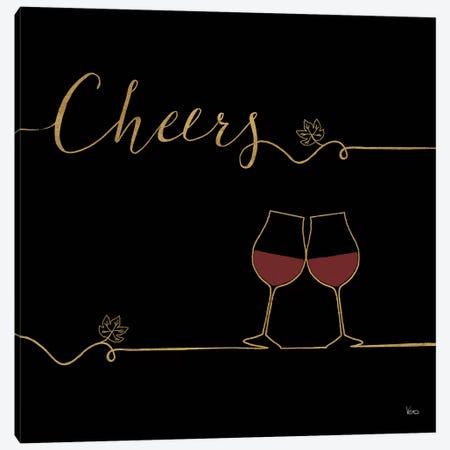 Underlined Wine On Black V Canvas Print #WAC7953} by Veronique Charron Canvas Art Print