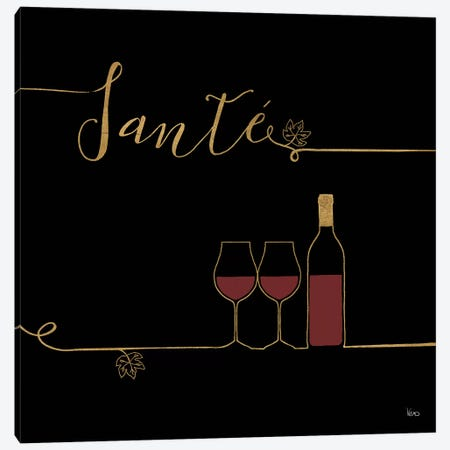 Underlined Wine On Black VI Canvas Print #WAC7954} by Veronique Charron Canvas Wall Art
