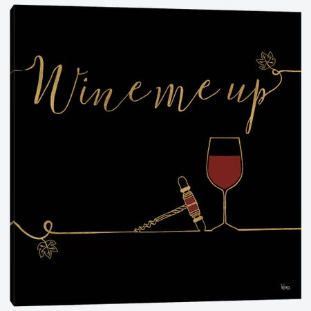 Underlined Wine On Black VII Canvas Print #WAC7955} by Veronique Charron Canvas Art