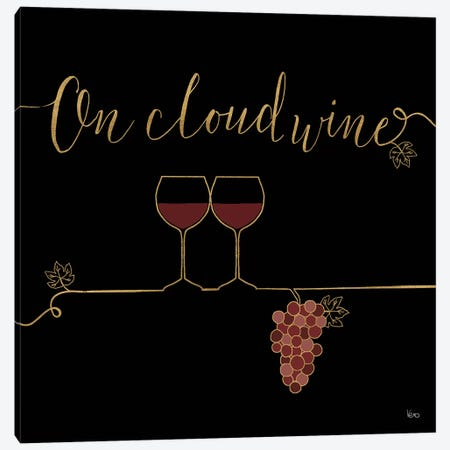Underlined Wine On Black VIII Canvas Print #WAC7956} by Veronique Charron Canvas Artwork