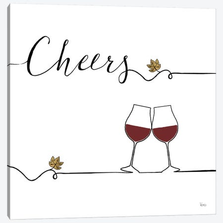 Underlined Wine V Canvas Print #WAC7957} by Veronique Charron Canvas Wall Art