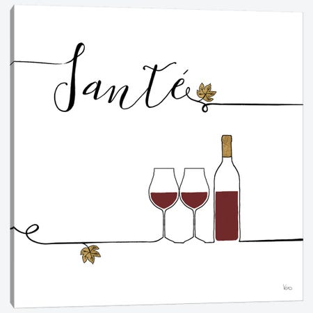 Underlined Wine VI Canvas Print #WAC7958} by Veronique Charron Canvas Print