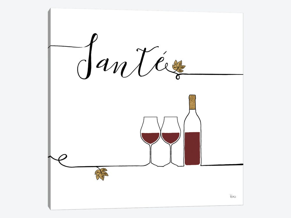 Underlined Wine VI by Veronique Charron 1-piece Art Print