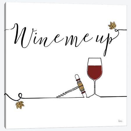 Underlined Wine VII Canvas Print #WAC7959} by Veronique Charron Art Print