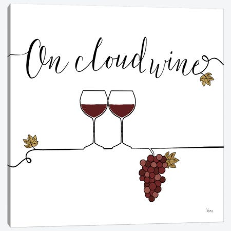 Underlined Wine VIII Canvas Print #WAC7960} by Veronique Charron Canvas Wall Art