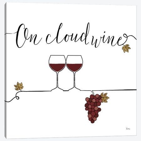 Underlined Wine VIII Canvas Print #WAC7960} by Veronique Charron Canvas Wall Art