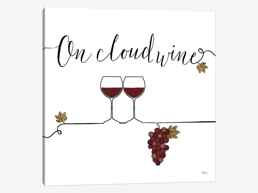 Underlined Wine VIII by Veronique Charron 1-piece Canvas Art
