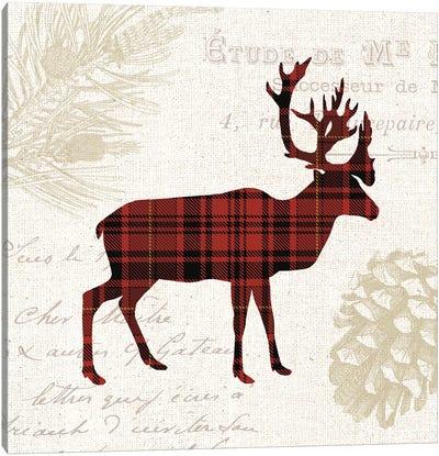 Plaid Lodge I Canvas Art Print