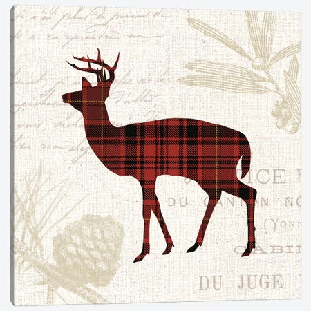 Plaid Lodge II Canvas Print #WAC7967} by Wild Apple Portfolio Art Print
