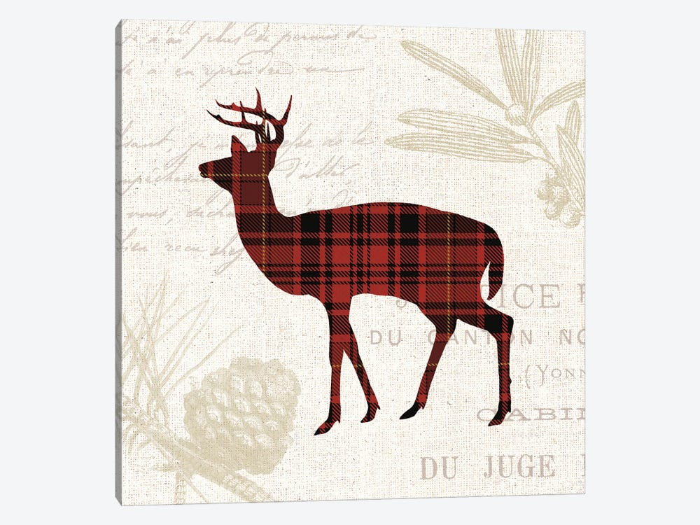 Plaid Lodge II by Wild Apple Portfolio 1-piece Canvas Art Print