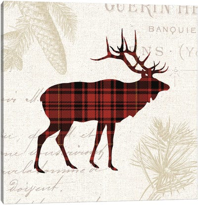 Plaid Lodge III Canvas Art Print
