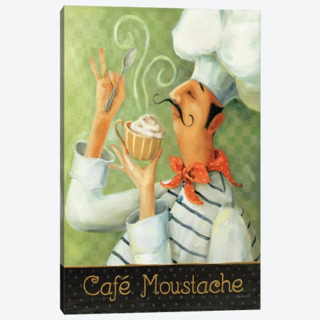 Cafe Moustache II Canvas Print #WAC796} by Lisa Audit Canvas Print