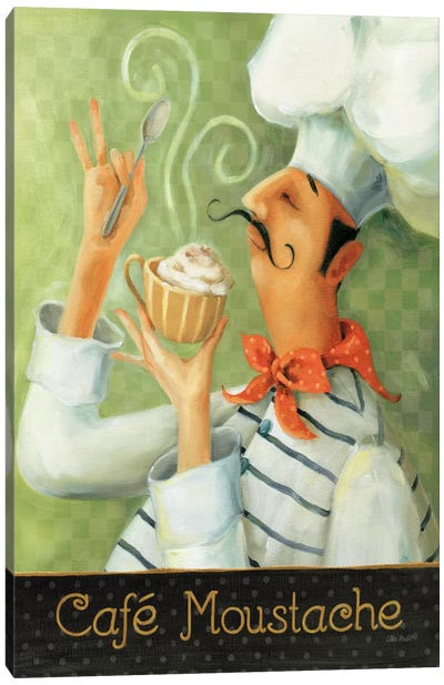 Cafe Moustache II Canvas Art Print