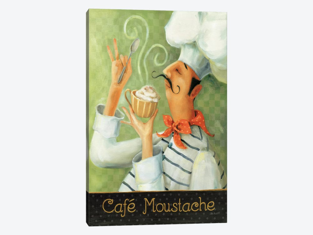 Cafe Moustache II by Lisa Audit 1-piece Canvas Wall Art
