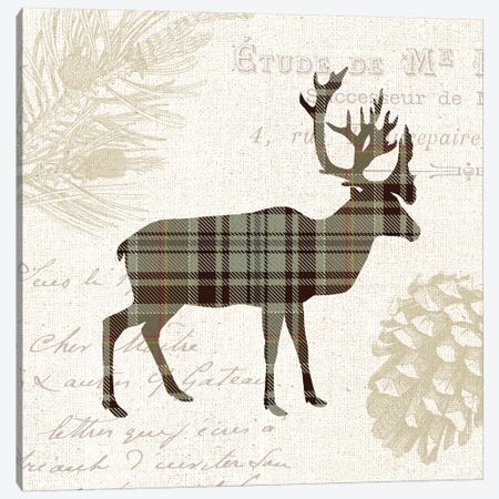 Plaid Lodge, Tan I Canvas Print #WAC7970} by Wild Apple Portfolio Art Print
