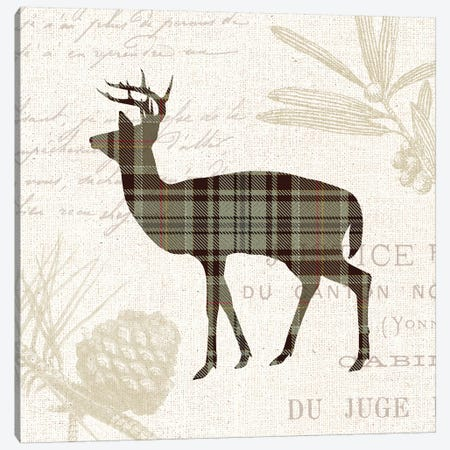 Plaid Lodge, Tan II Canvas Print #WAC7971} by Wild Apple Portfolio Canvas Print