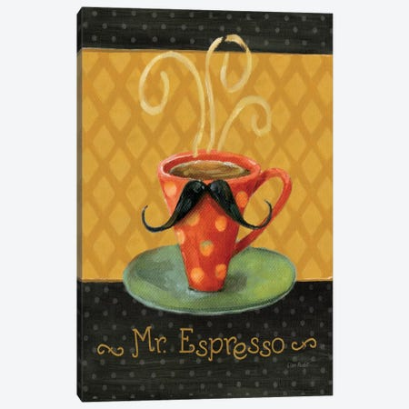 Cafe Moustache III Canvas Print #WAC797} by Lisa Audit Art Print