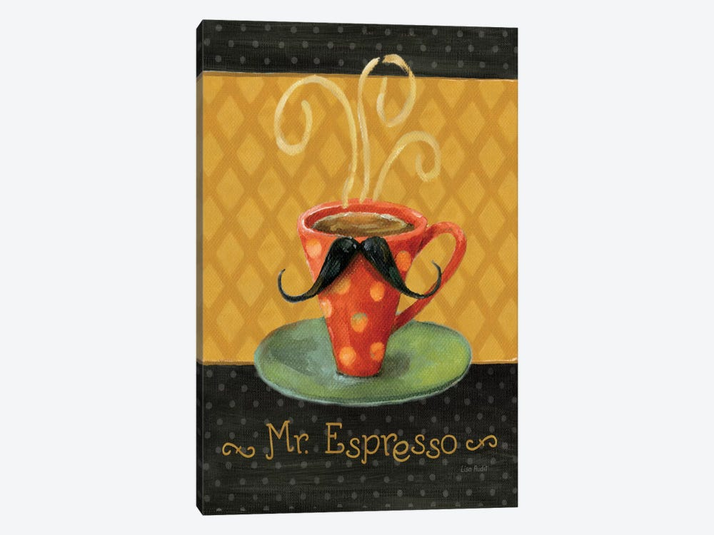 Cafe Moustache III by Lisa Audit 1-piece Canvas Print