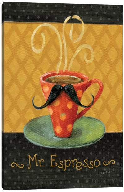 Cafe Moustache III Canvas Art Print