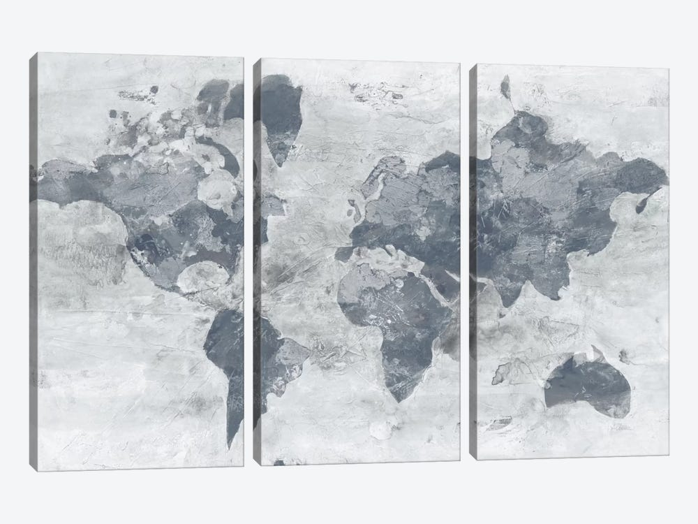 Golden World Neutral by Albena Hristova 3-piece Canvas Print