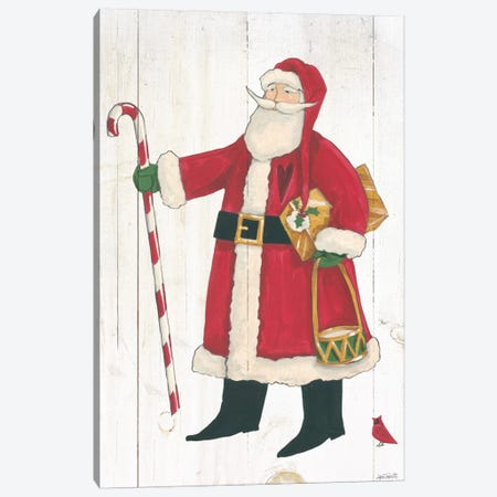 Vintage St. Nick II No Words On White Wood Canvas Print #WAC7998} by Anne Tavoletti Canvas Print