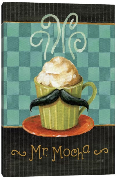 Cafe Moustache V Canvas Art Print