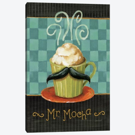 Cafe Moustache V Canvas Print #WAC799} by Lisa Audit Canvas Wall Art