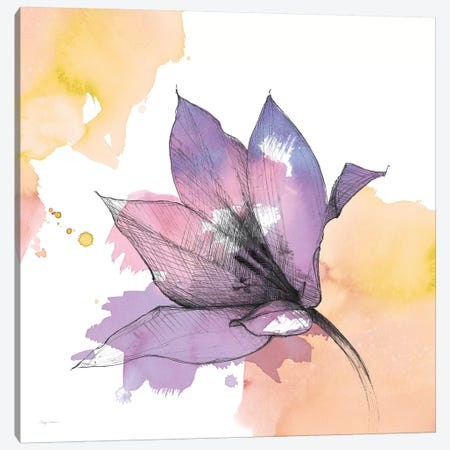 Watercolor Graphite Flower IX Canvas Print #WAC8003} by Avery Tillmon Canvas Print