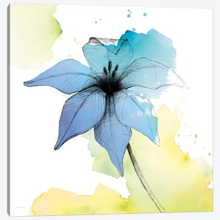 Watercolor Graphite Flower V Canvas Print #WAC8004} by Avery Tillmon Canvas Art