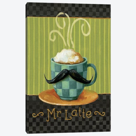 Cafe Moustache VI Canvas Print #WAC800} by Lisa Audit Canvas Art