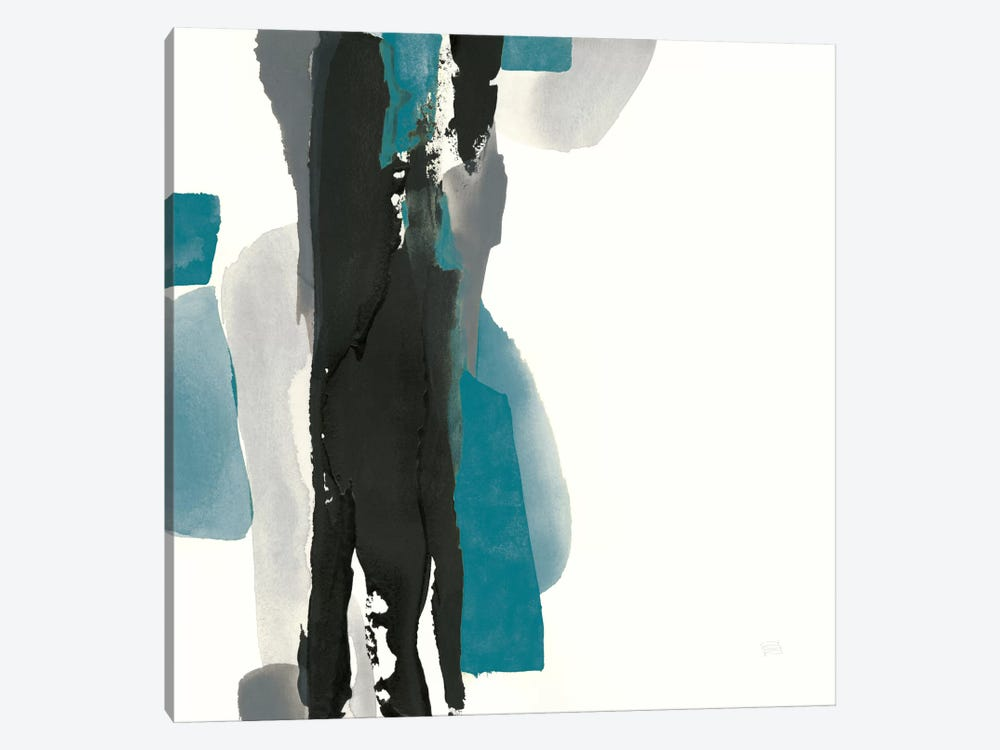 Black And Teal II by Chris Paschke 1-piece Canvas Print