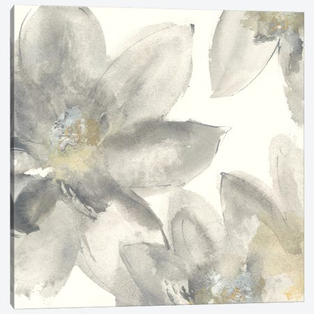 Gray And Silver Flowers I Canvas Print #WAC8018} by Chris Paschke Canvas Art