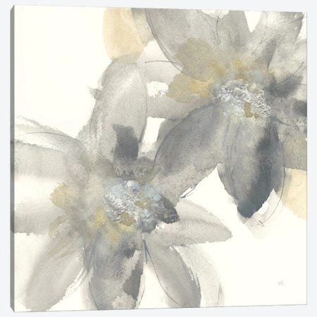 Gray And Silver Flowers II Canvas Print #WAC8019} by Chris Paschke Canvas Artwork