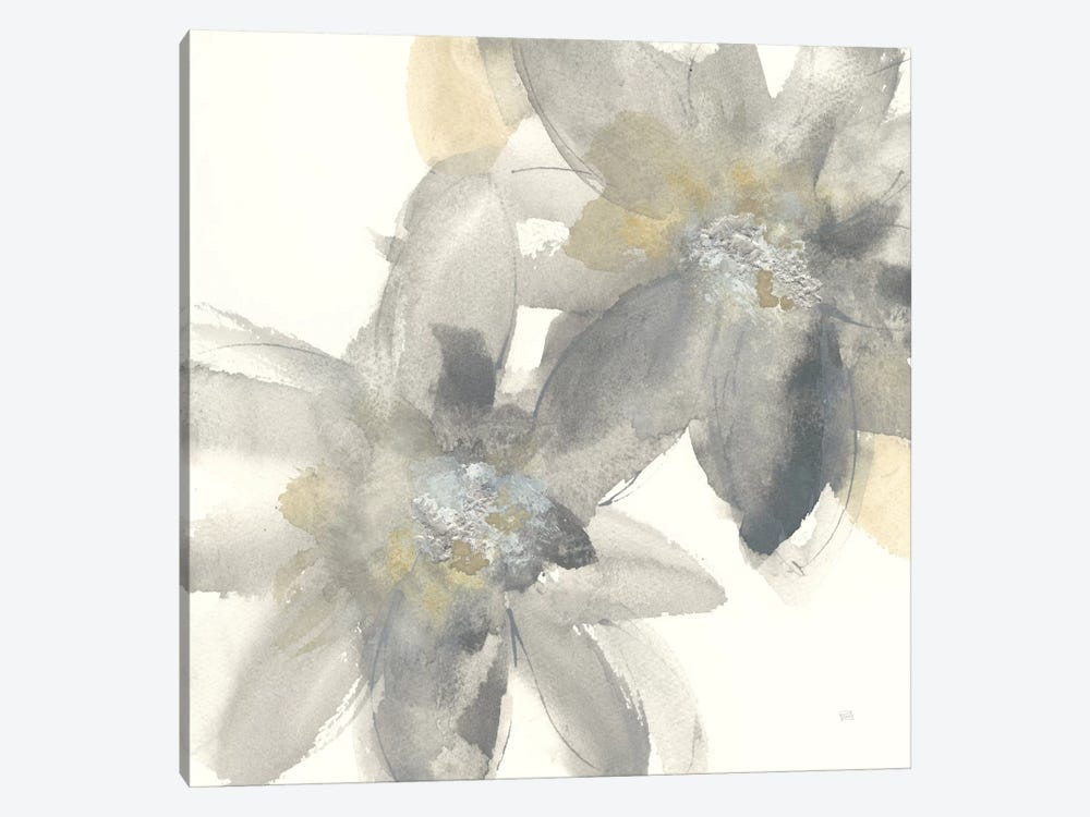 Gray And Silver Flowers II by Chris Paschke 1-piece Art Print