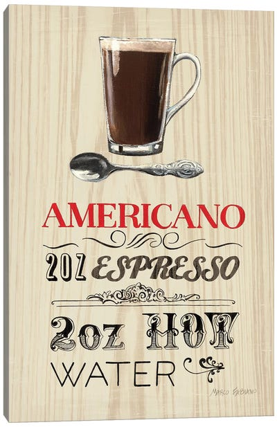 Americano Canvas Art Print