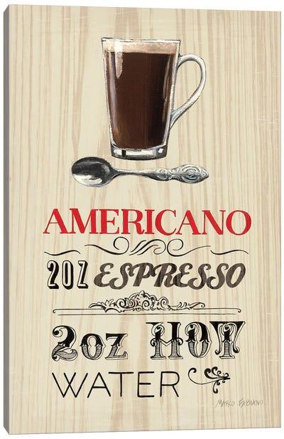 Americano  Canvas Print #WAC801