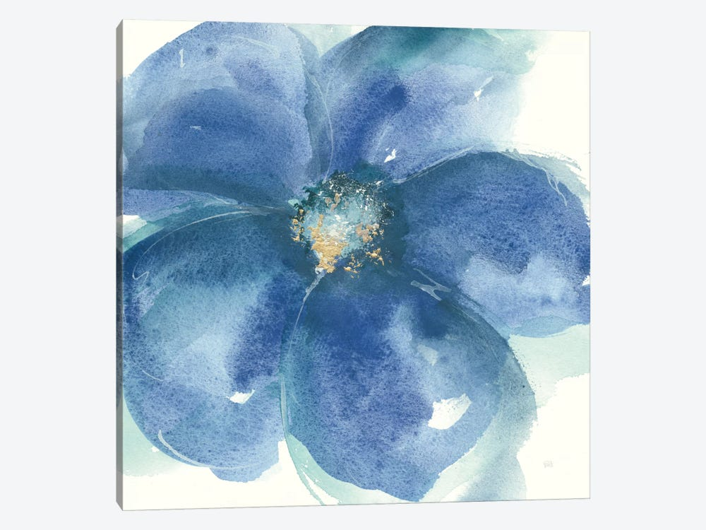 Indigo Mint IV 1-piece Canvas Art