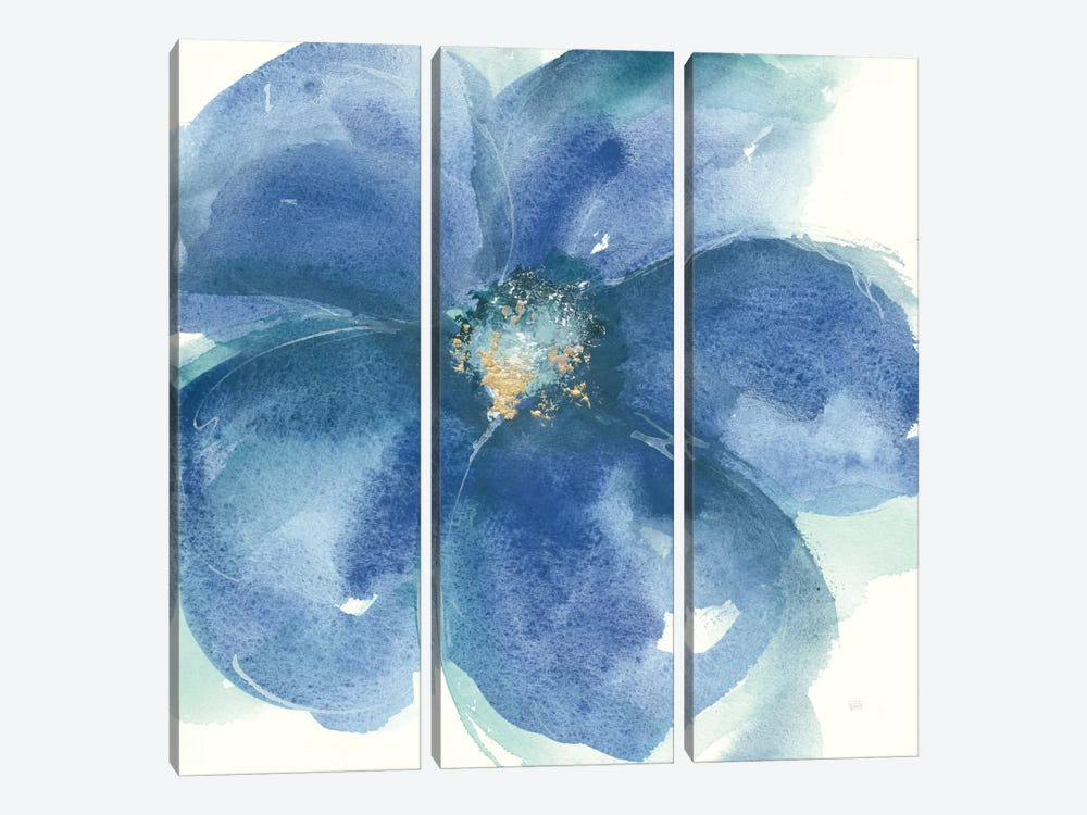 Indigo Mint IV by Chris Paschke 3-piece Canvas Art