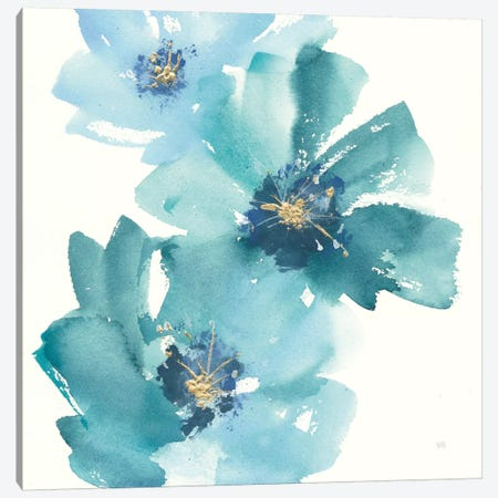 Teal Cosmos IV Canvas Print #WAC8027} by Chris Paschke Canvas Art
