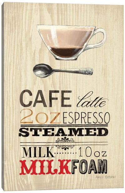 Cafe Latte Canvas Art Print