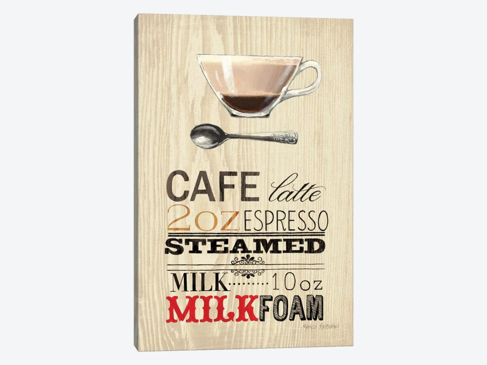 Cafe Latte  by Marco Fabiano 1-piece Canvas Art Print
