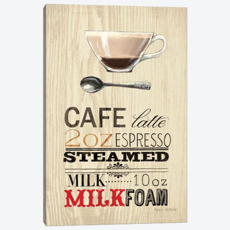 Cafe Latte  Canvas Print #WAC802} by Marco Fabiano Canvas Art