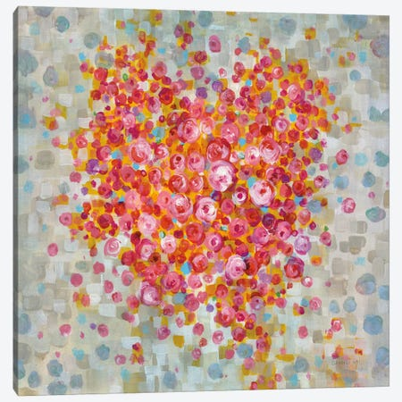 Circle Of Hearts Canvas Print #WAC8035} by Danhui Nai Canvas Print