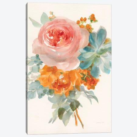 Garden Bouquet, Orange Red II Canvas Print #WAC8037} by Danhui Nai Canvas Print