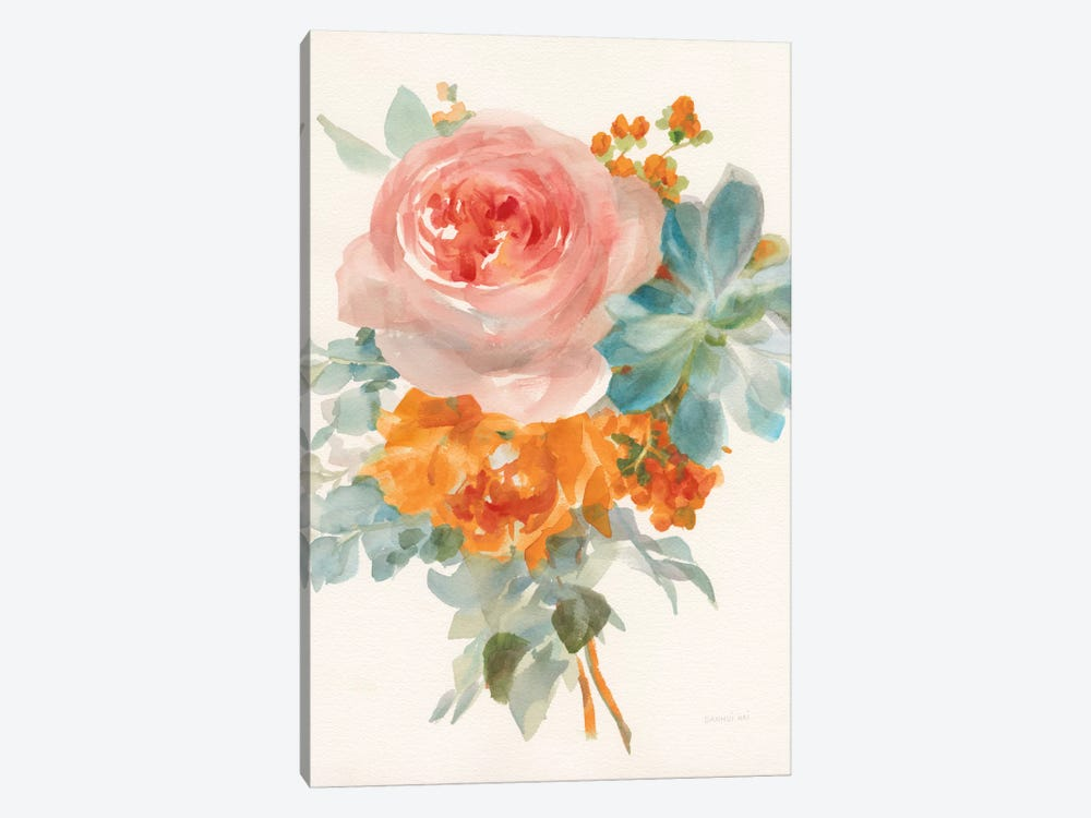 Garden Bouquet, Orange Red II by Danhui Nai 1-piece Canvas Art Print