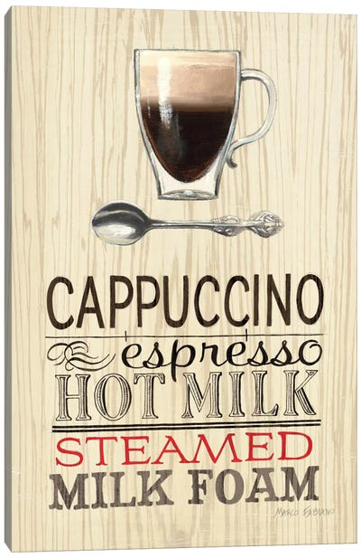 Cappucino Canvas Art Print