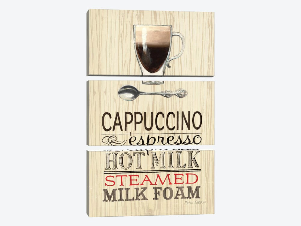 Cappucino by Marco Fabiano 3-piece Canvas Art