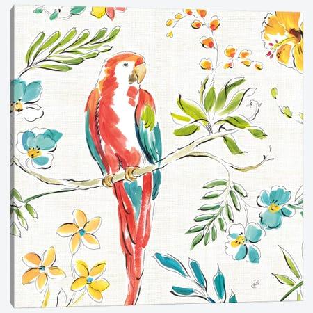 Tropical Oasis, White III Canvas Print #WAC8048} by Daphne Brissonnet Art Print