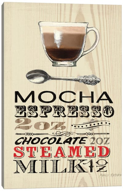 Mocha Canvas Art Print