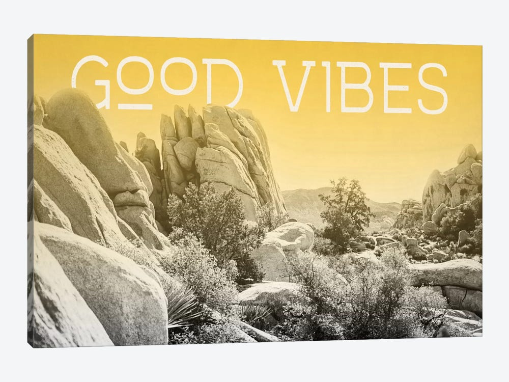 Ombre Adventure: Good Vibes by Elizabeth Urquhart 1-piece Canvas Wall Art